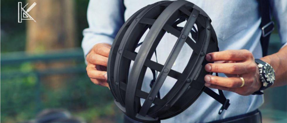 This folding bicycle helmet isn't as scary as it sounds