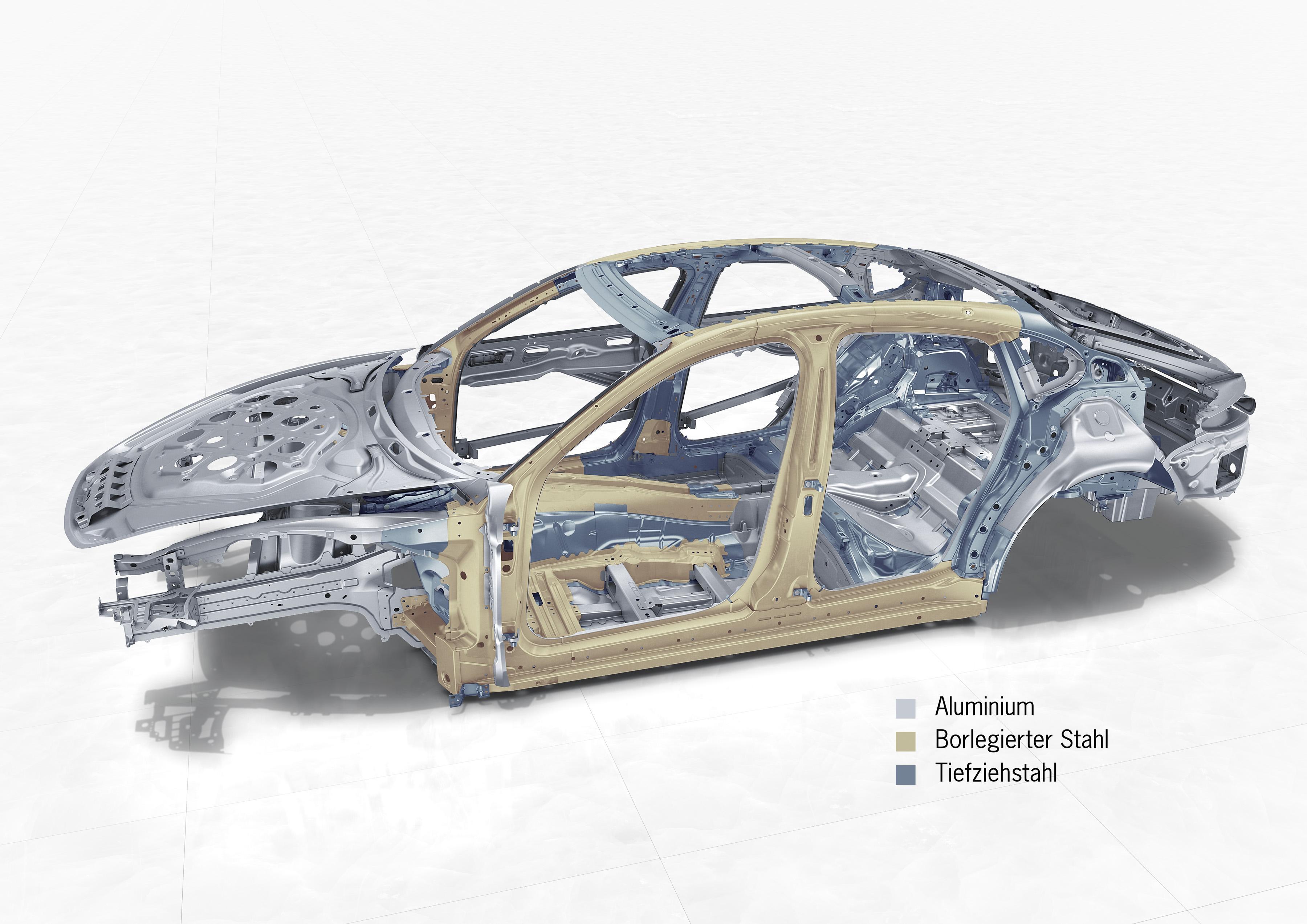 2017 Porsche Panamera body structure