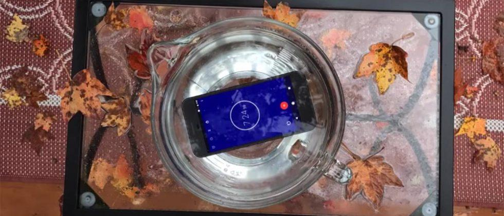 Google Pixel survives 30 minutes fully submerged in water