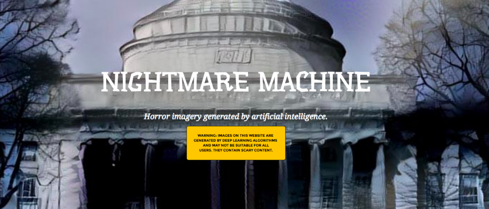 MIT Nightmare Machine uses deep learning AI to create horror