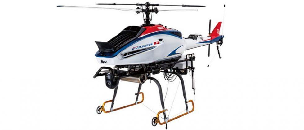 Yamaha Fazer R is a helicopter drone for commercial use