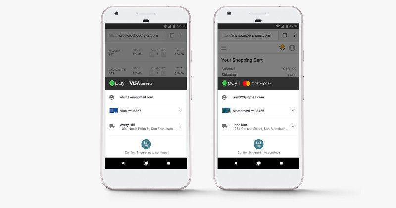 Android Pay support for Visa Checkout, Masterpass inbound