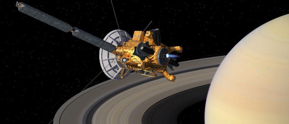 Cassini orbiter documents Saturn's changing north pole