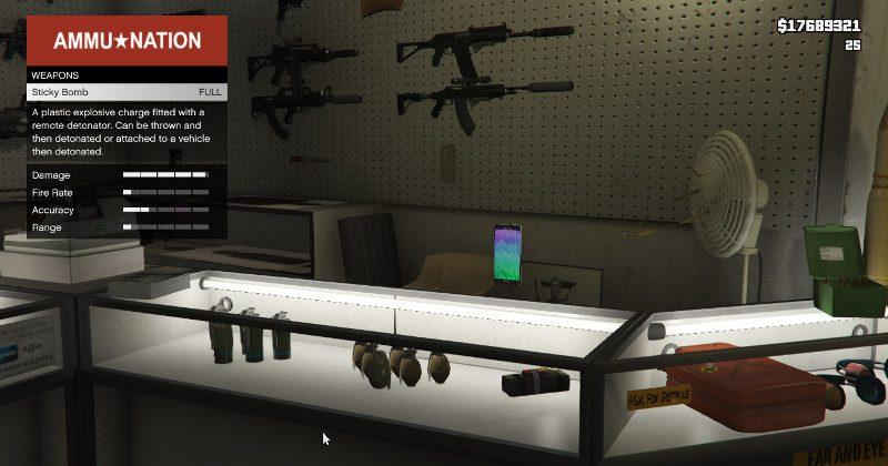 Galaxy Note 7 becomes a deadly weapon in GTA 5 Mod