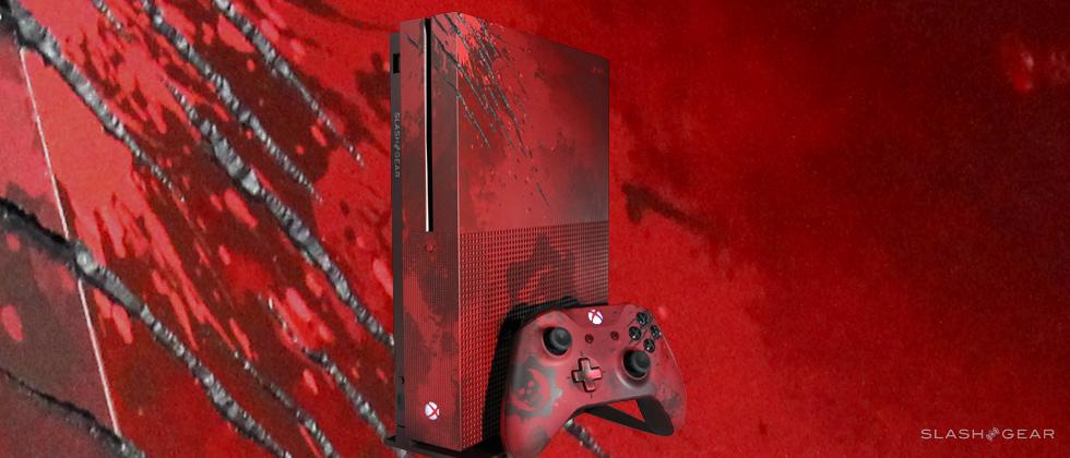 Xbox One S Gears of War 4 mini-Review in blood red