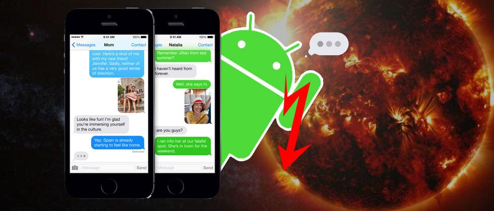 You might download iMessage for Android soon