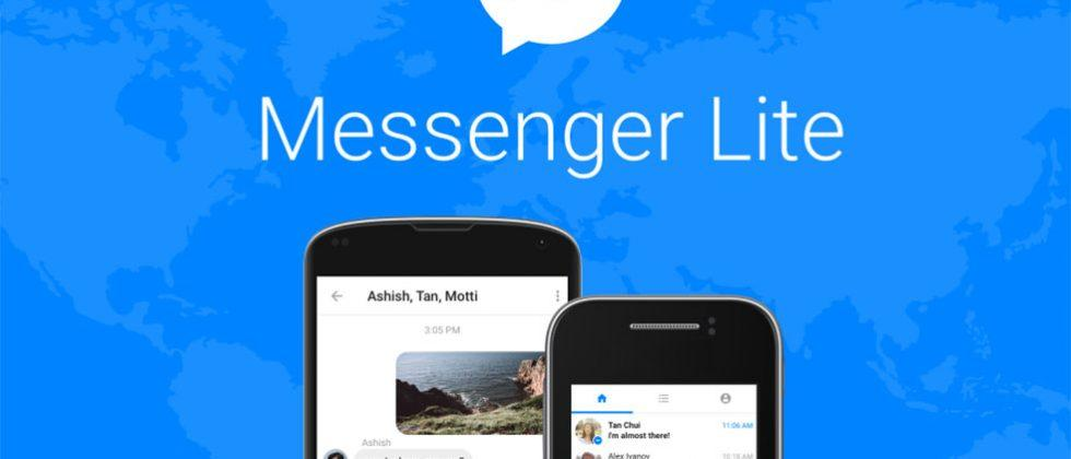 Facebook Messenger Lite aims at Android users with slow connections