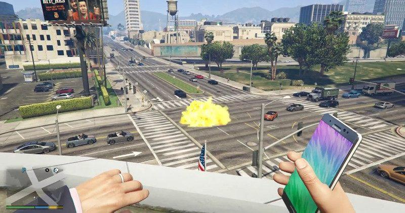 Samsung hurls DMCA at Galaxy Note 7 Bomb GTA 5 mod