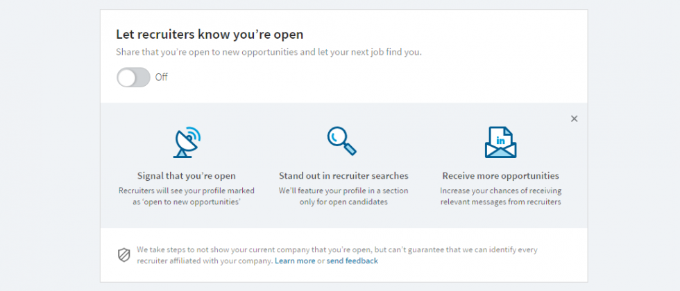 LinkedIn's Open Candidates feature helps you find a job in secret