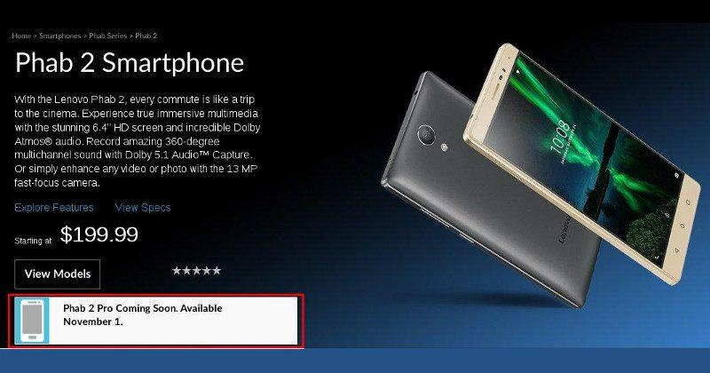 Lenovo Phab 2 Pro will finally do the Tango next week