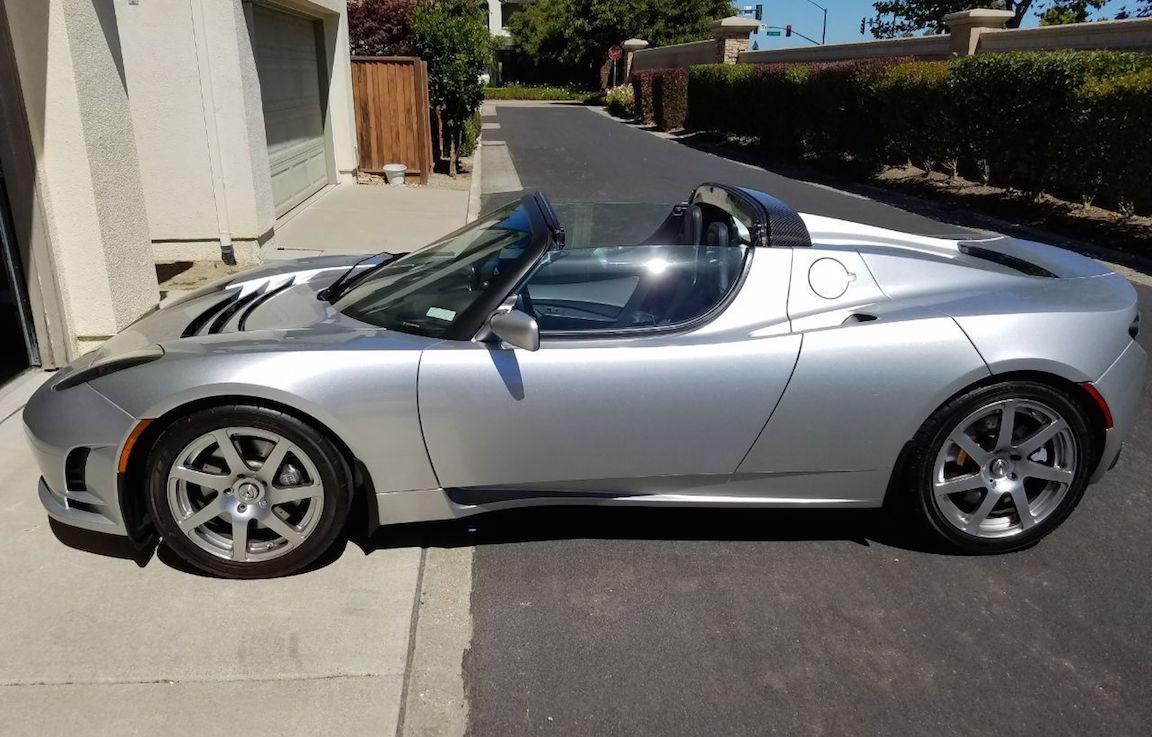 2008 Tesla Roadster prototype being auctioned with $1M ...