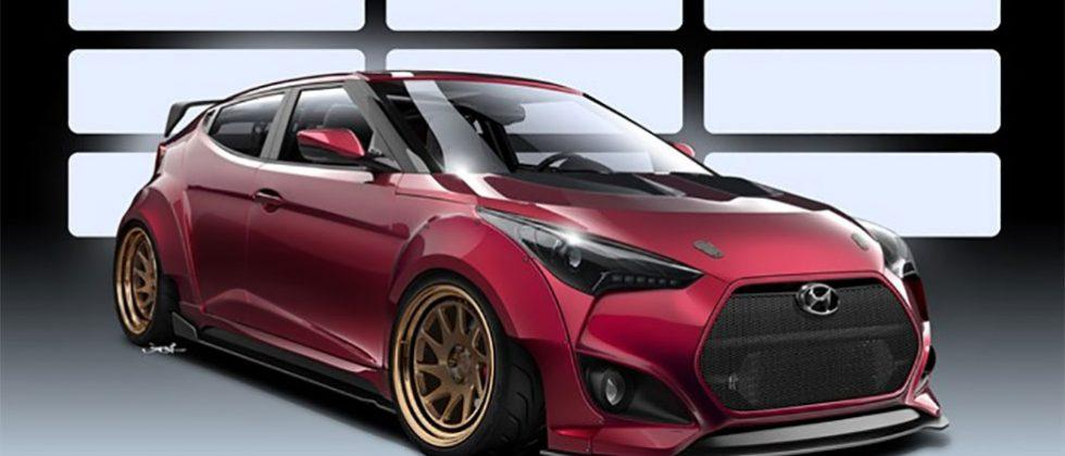 Hyundai Gurnade Veloster Concept brings race ready style to SEMA