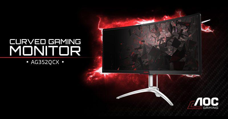 AOC AG352QCX curved monitor tempts gamers with FreeSync tech