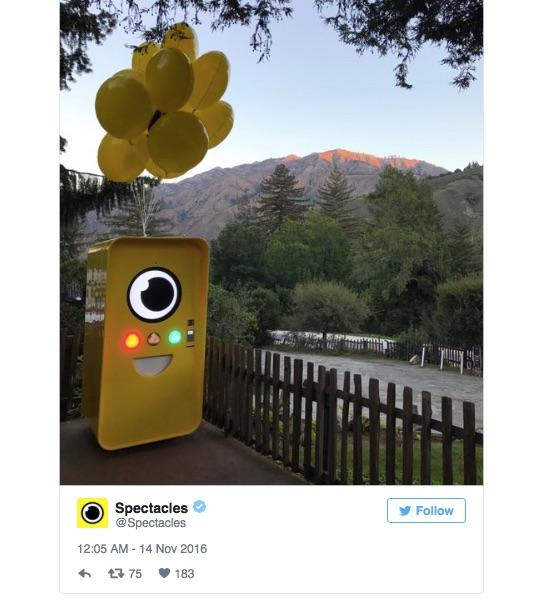 Snapchat Spectacles vending machine can now be found in Big Sur, California