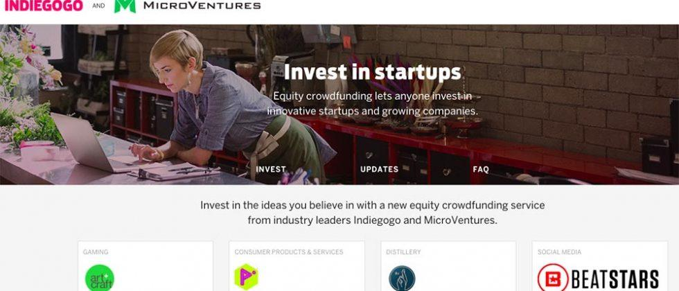 Indiegogo equity crowdfunding lets anyone invest in startups