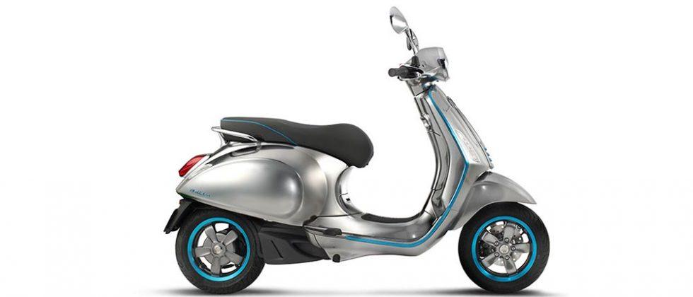 Vespa Elettrica is an electric version of the classic scooter