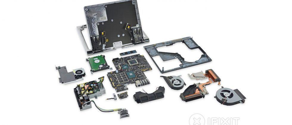 Surface Studio iFixit teardown: ARM CPU, upgradable hard drive