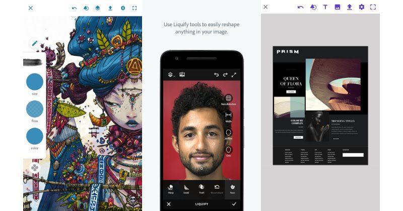 Adobe Photoshop Sketch, Photoshop Fix, Comp CC now on Android - SlashGear
