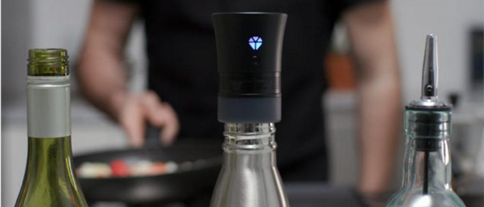 Cork turns old wine bottles into a Bluetooth speaker