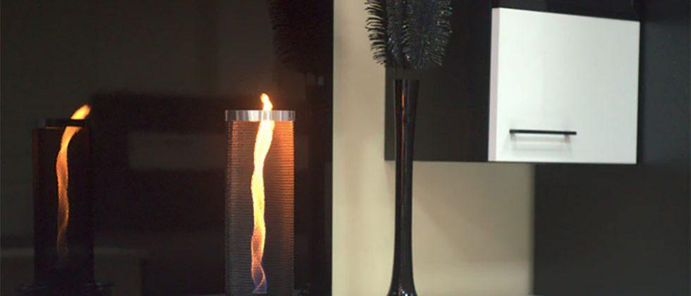 Flameflex creates a fire tornado on your table that won't burn the house down