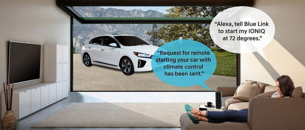 Hyundai Ioniq Blue Link supports Amazon Alexa voice commands