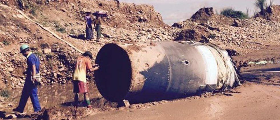 Massive space junk with Chinese writing crashes in Myanmar