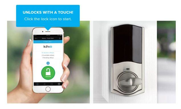 Kwikset Kevo Convert turns your existing lock into a smart