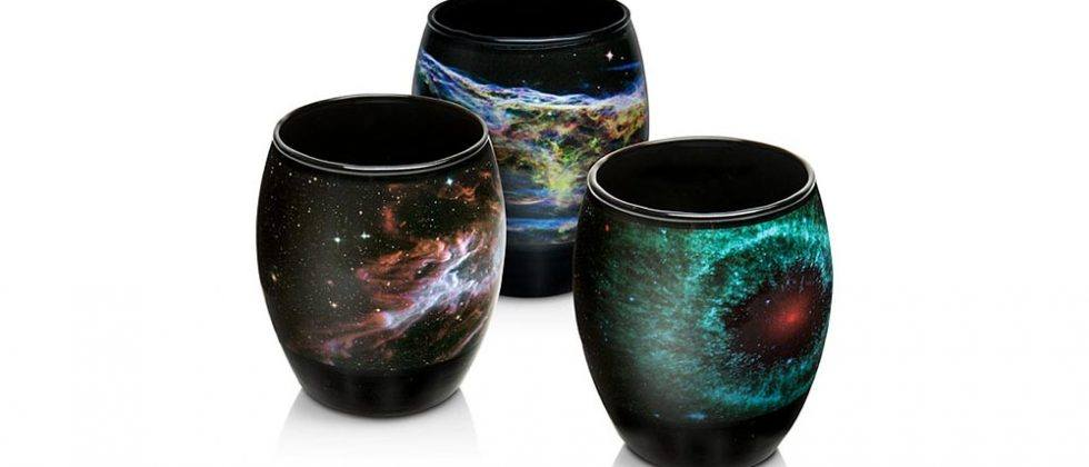 Nebula glass set adds stunning space photos to every beverage