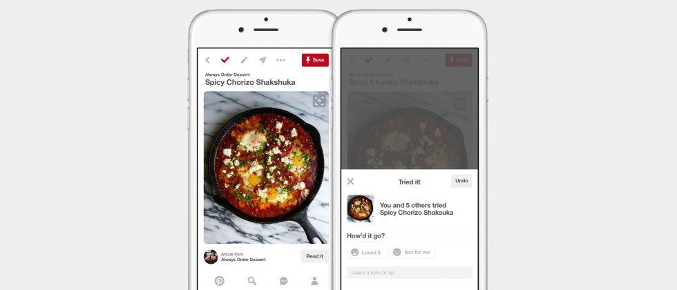 Pinterest's new feature helps track things you've already tried