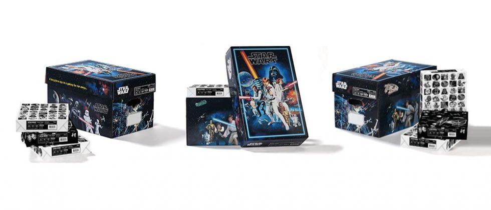 Star Wars office paper comes in a box that doubles as artwork