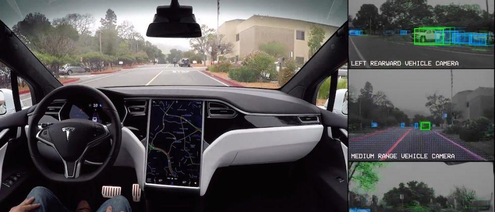 Tesla releases self-driving demo video that shows what the car sees