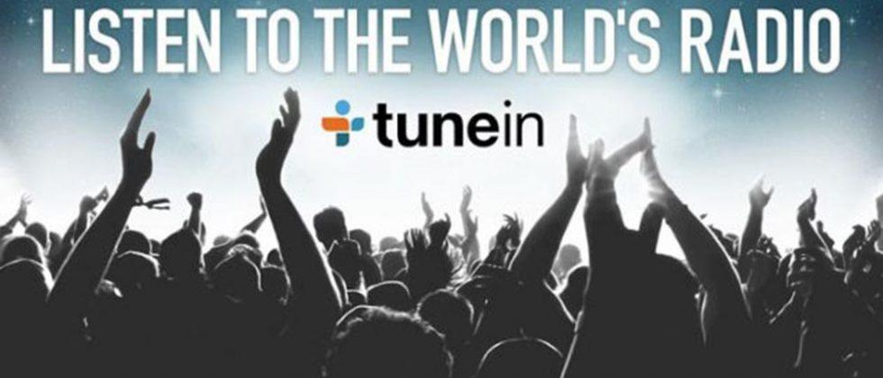 TuneIn Radio adds offline listening support for podcasts