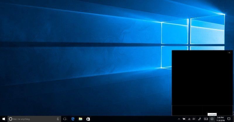Windows 10 to get a virtual touchpad for external displays