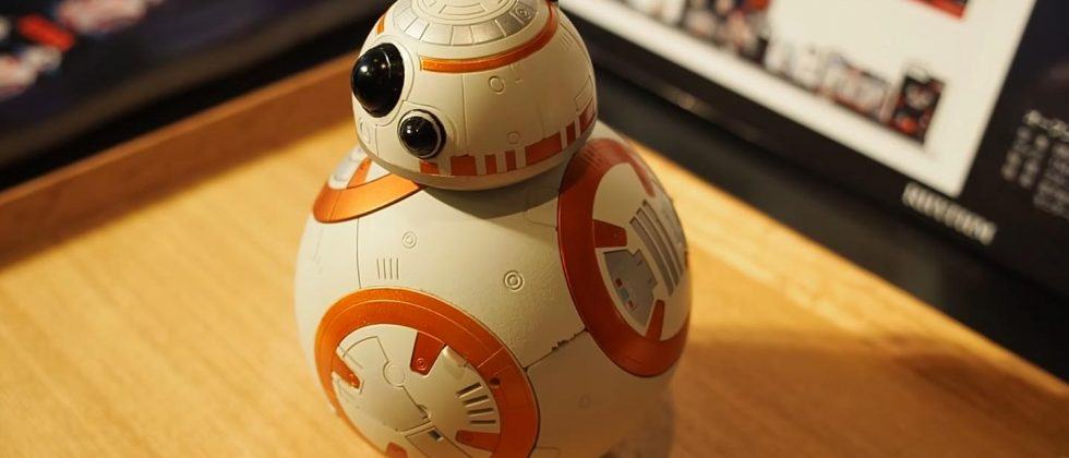 BB-8 alarm clock rolls, beeps and plays music when it's time to wake up