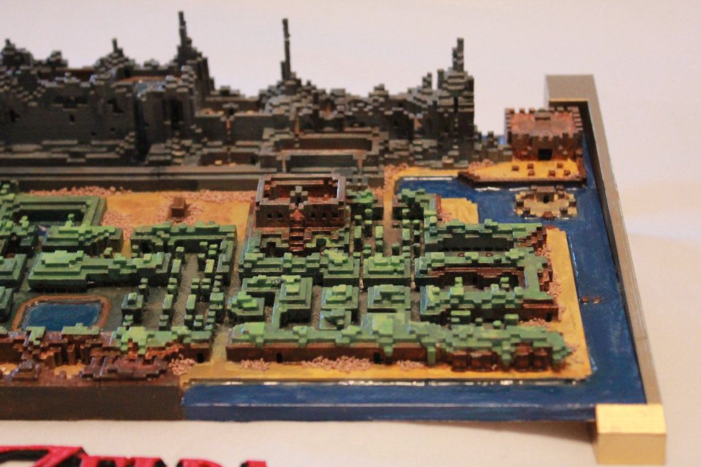 image relating to Printable Legend of Zelda Map named Legend of Zelda lover 3D-posted the primary online games overworld