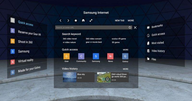 Samsung Gear VR Internet app gets WebVR support