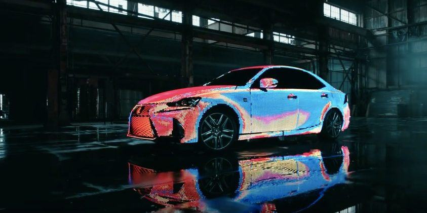 This Lexus is covered in over 40,000 programmable LEDs