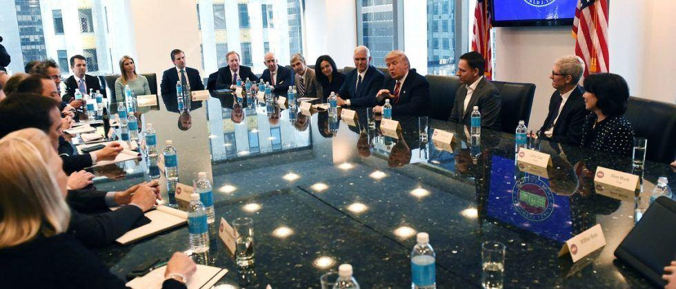 Trump's technology meeting: business and government, all in one