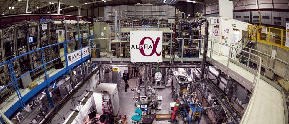 ALPHA records first ever measurement of optical spectrum of antimatter atom