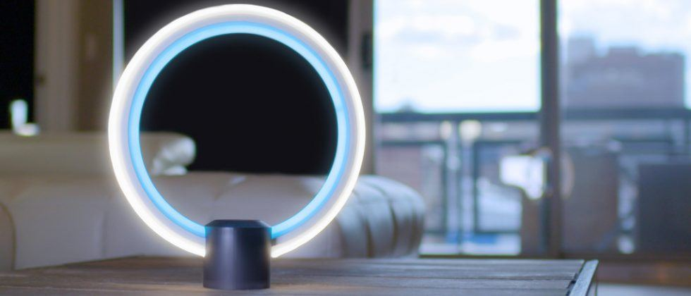 C by GE futuristic LED ring lamp includes Alexa voice support