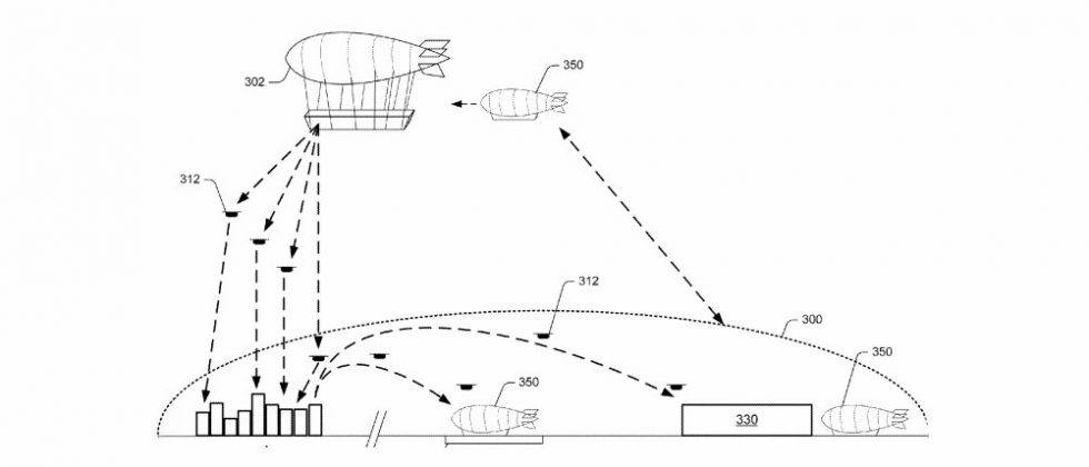 Amazon patent details floating fulfillment center for drone deliveries