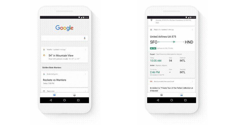 Google Search app separates news and personal info into tabs