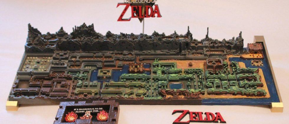 Legend of Zelda fan 3D-printed the original game's overworld map