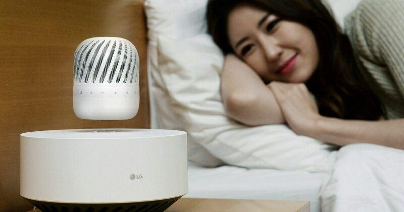 LG 360-degree floating speaker lands to charge wirelessly