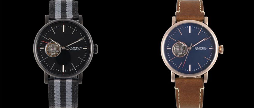 Origin mechanical smart watch by Grayton is self-winding, water resistant, and track activity