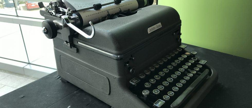 This Mercedes self-typing AI typewriter feels like real magic