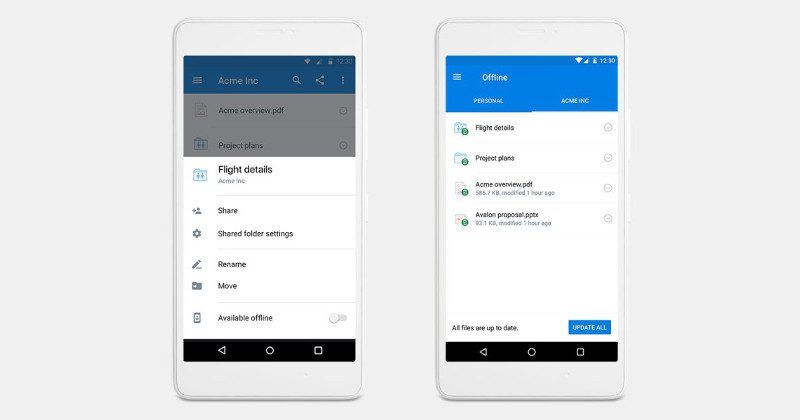 Dropbox offline folders on mobile are now possible, for a price