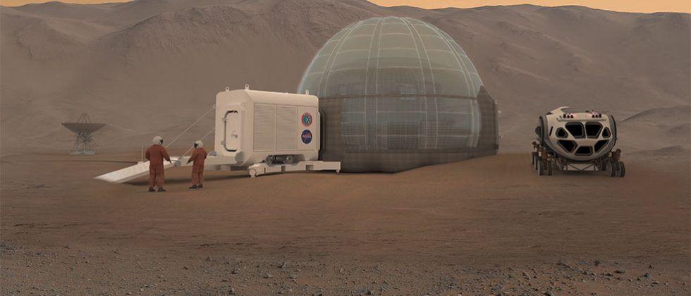 NASA Langley Mars habitat concept is made of ice