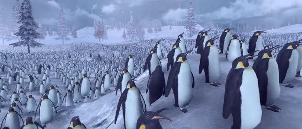 Computer simulated battle pits 4,000 Santas against 11,000 penguins