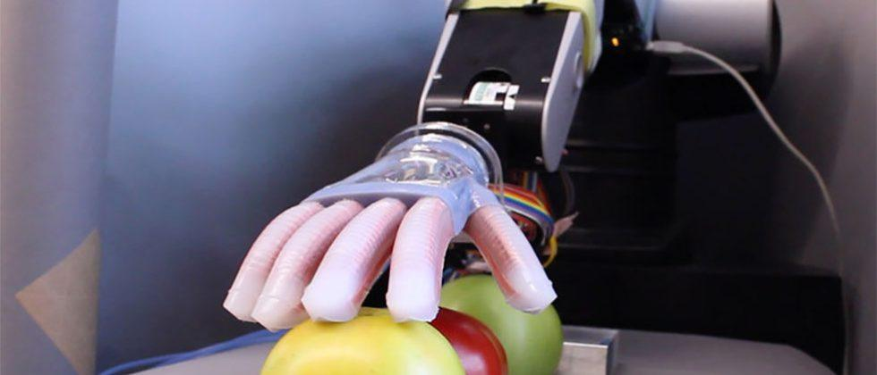 Cornell University creates soft robotic hand that senses shape and texture